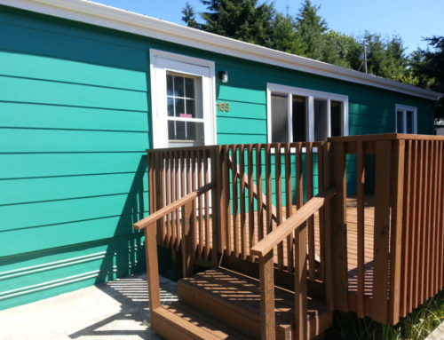 Lincoln city stained deck